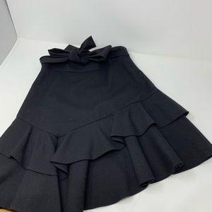 Maje Mini Skirt Size 34 XS Black C1
